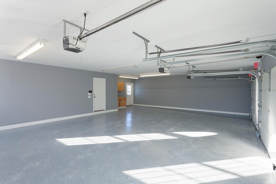 Finished-Garage-floor-walls-work-space