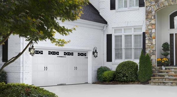 Large White Garage Door