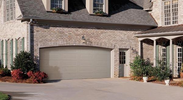 House with Large Garage Door