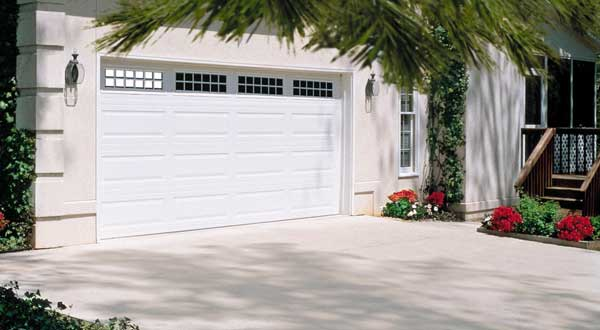 Home with White Garage Door