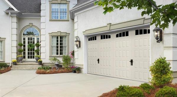 Home with Large Garage Door
