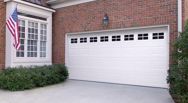 Window Panel White Garage Door