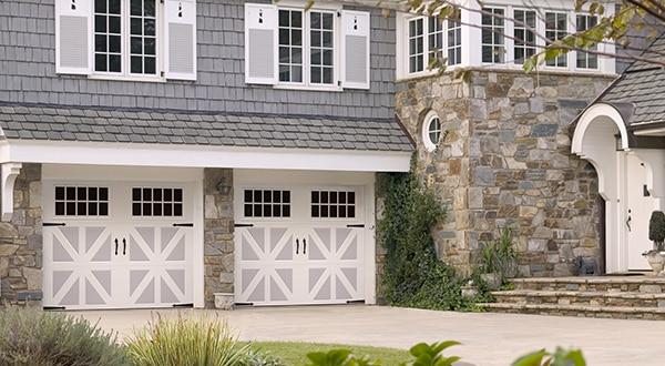 House with Double Garage Doors