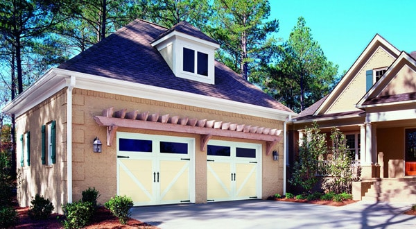 Garage Doors with Rectangular Window Panels
