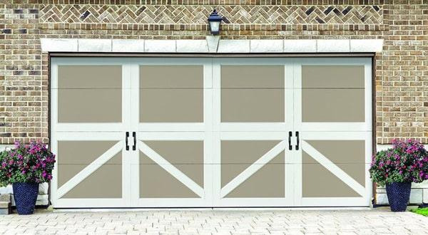 Double Handle Garage Door