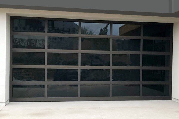 Black Mirror Panel Garage Door