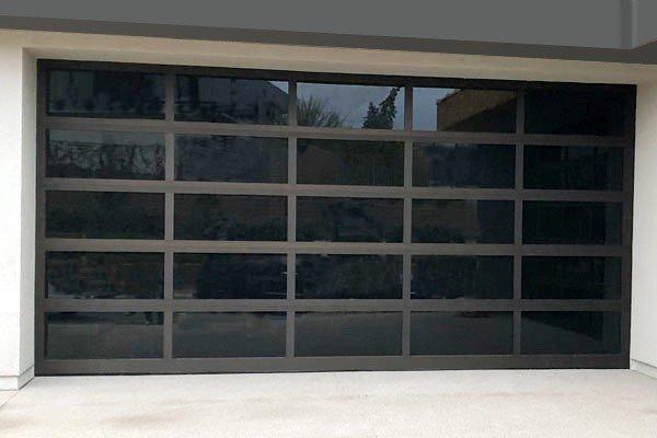 Black Mirror Panel Garage Door