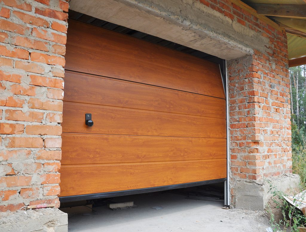 Wooden-Garage-Door-Opening-Brick-Wall