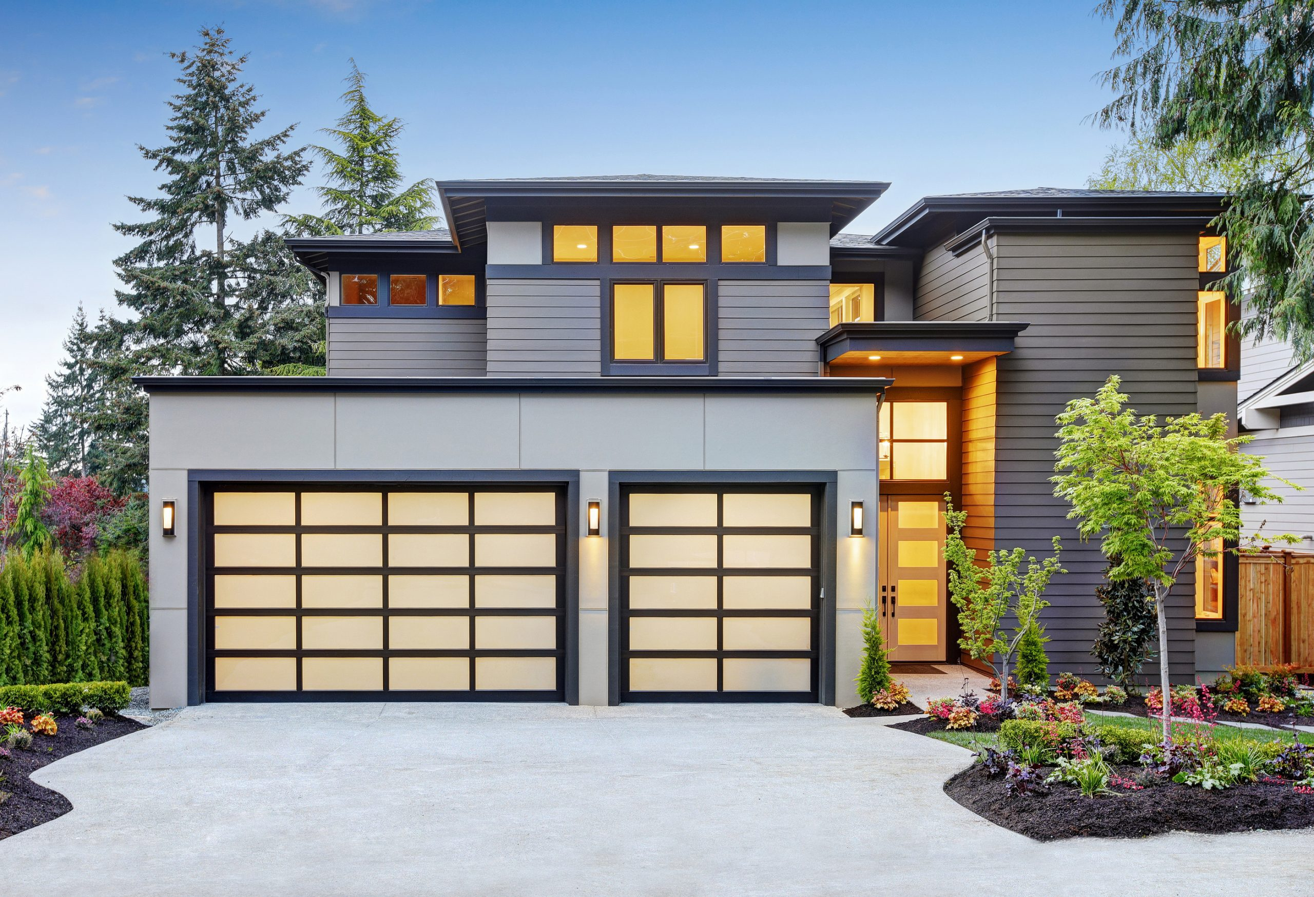 Luxurious-New-Construction-Home-with-Two-Glass-Garage-Doors