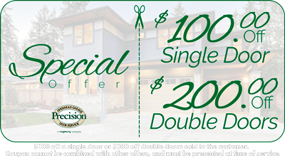 $100 Off Single Door or $200 Off Double Doors